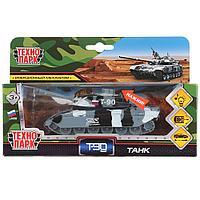 ТехноПарк Металлическая модель Танк Т-90 с подвижной башней, орудием, 13 см. (звук)