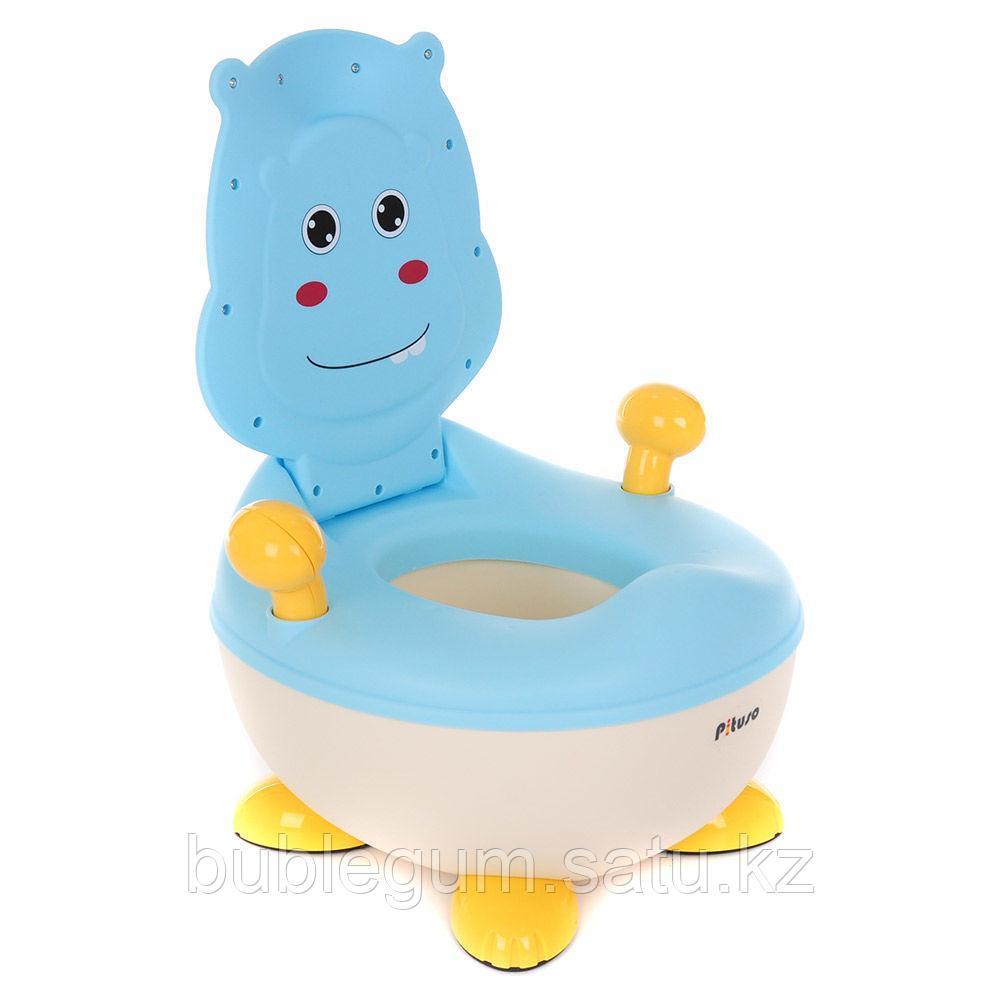 PITUSO Детский горшок БЕГЕМОТИК Голубой BLUE 37*36*24,5 см
