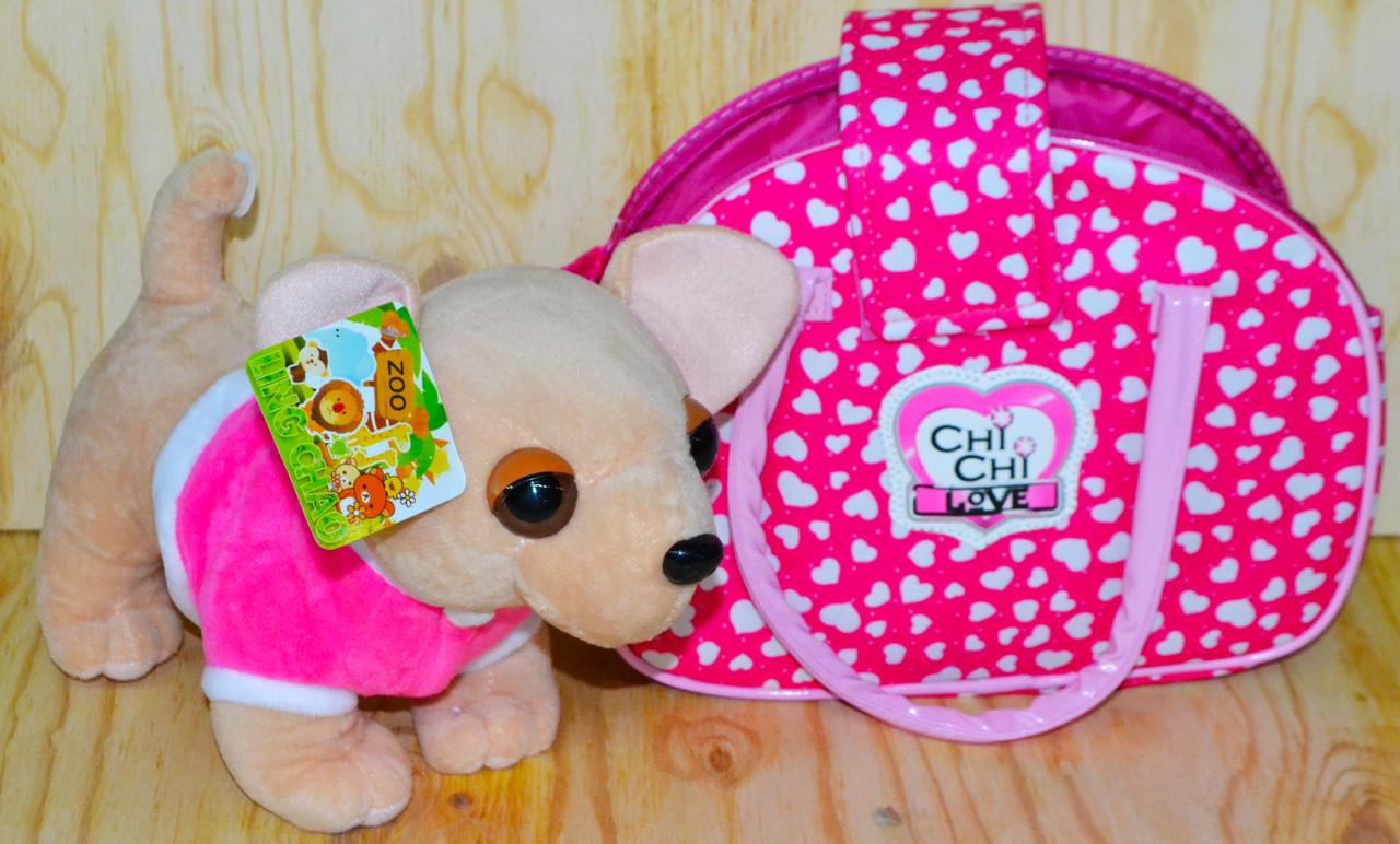 4572 Собачка с сумочкой Chi-chi love (23*19-сумка, 25*20-собака)