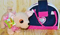 4568 Собачка Chi-Chi love с джинсовой сумочкой  (собычка- 24*20, сумочка-20*25), фото 1