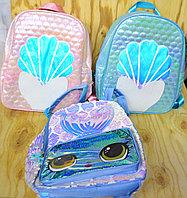 021 Рюкзак большой рисунок ракушки и рыбки 35*26, фото 1