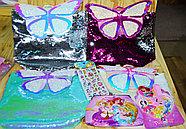 007 Рюкзак-сумочка аксессуары с бабочкой и поетками меняет  цвет 34*30, фото 2