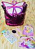 007 Рюкзак-сумочка аксессуары с бабочкой и поетками меняет  цвет 34*30