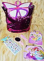 007 Рюкзак-сумочка аксессуары с бабочкой и поетками меняет  цвет 34*30, фото 1