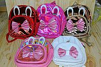 019-2 Рюкзак для девочек УШКИ Бантик 24*22