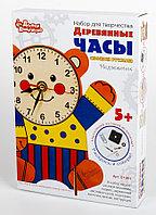 Деревянные часы своими руками с красками «Медвежонок»