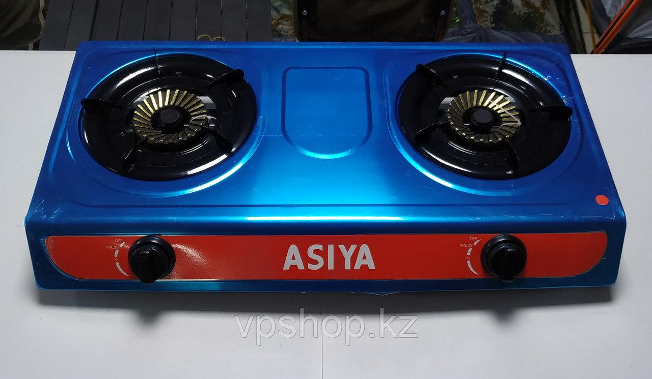 Газовая плитка на 2 конфорки Asiya для дома и отдыха на природе