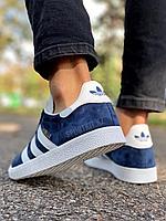 Кеды Adidas Gazelle тем син д2, фото 1