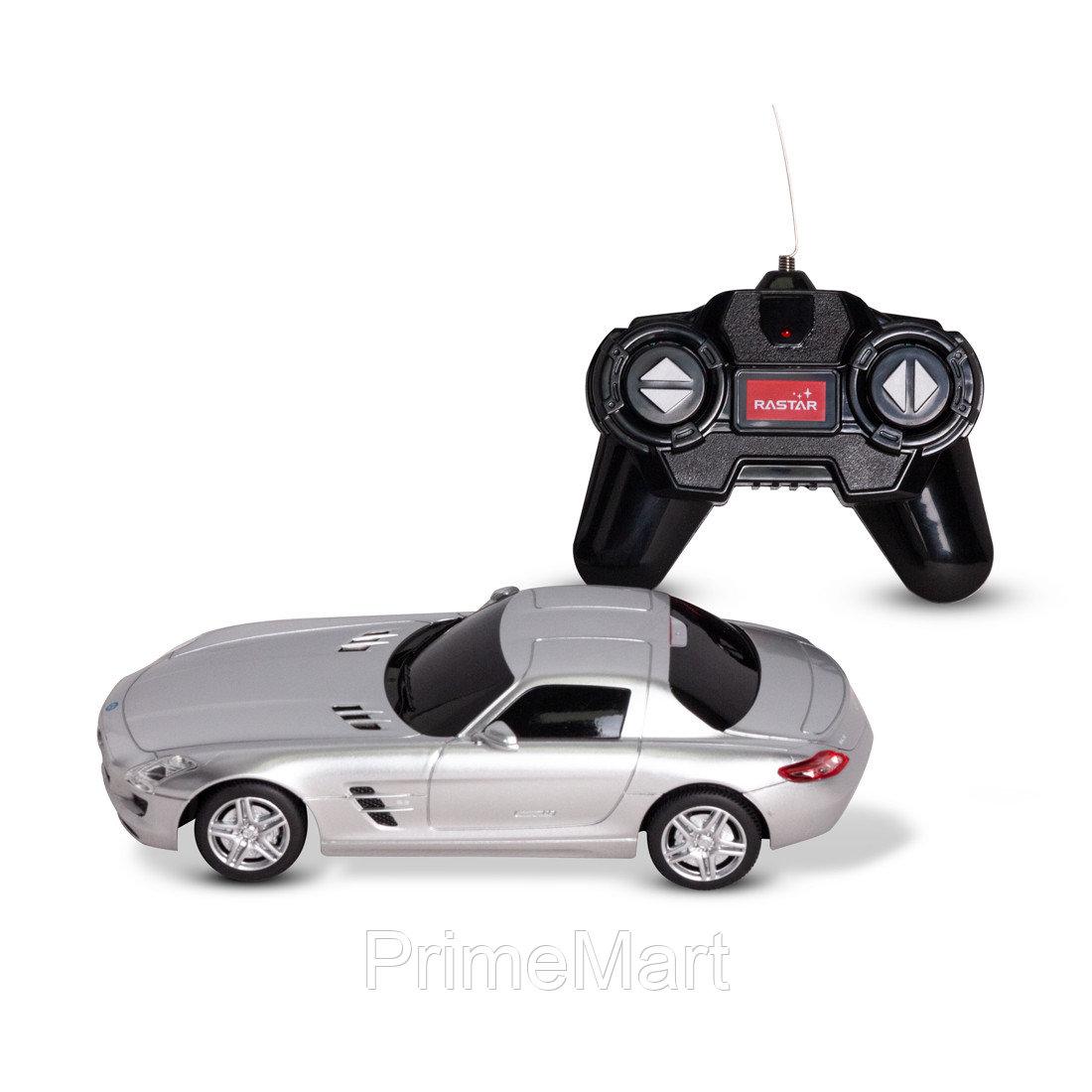 Радиоуправляемая машина, RASTAR, 40100S, 1:24, Mercedes-Benz SLS AMG, Пластик, 40 MHz, Серебристая