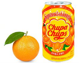 Напиток Chupa Chups апельсин 345ml Корея (24шт-упак)