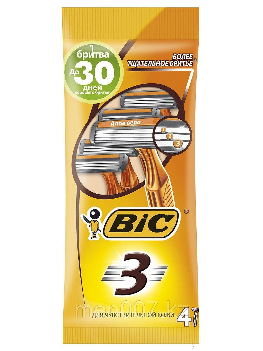Bic 3 Sensitive (4 штуки) (Одноразовые станки)