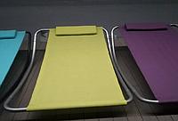 Лежак одноместный с подголовником