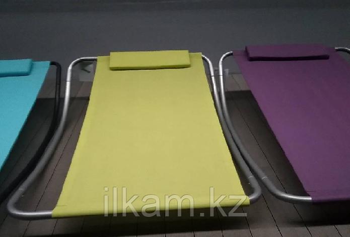 Лежак одноместный с подголовником, фото 2