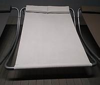 Лежак двухместный с подголовником