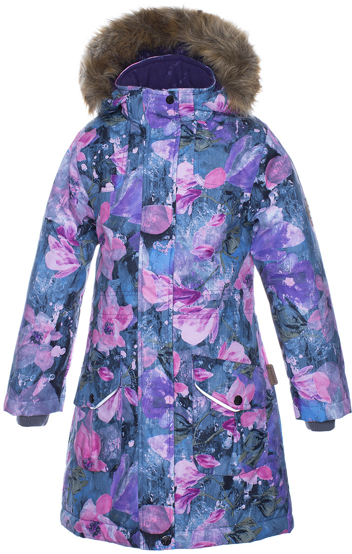 Куртка для девочек MONA, лилoвый с принтом
