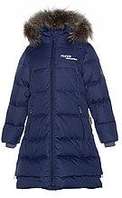 Пальто для девочек Huppa PARISH, тёмно-синий