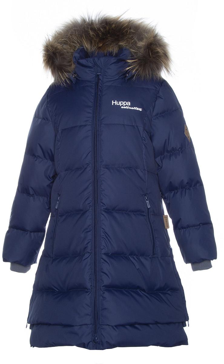 Пальто для девочек Huppa PARISH, тёмно-синий - фото 1