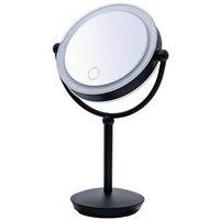 Зеркало косметическое настольное Moana, 1х/5х, LED, сенсор, цвет чёрный