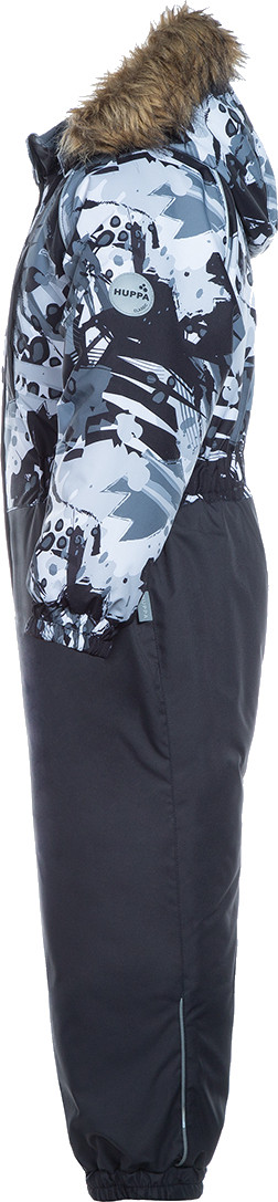 Детский комбинезон Huppa WILLY, чёрный с принтом/тёмно-серый - 98 - фото 2