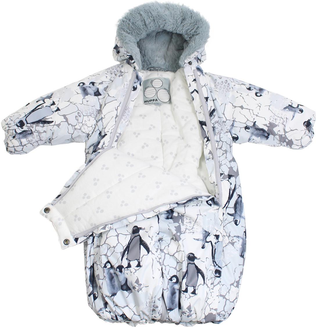 Комбинезон-спальный мешок для малышейHuppa MARY, белый с принтом, размер 68