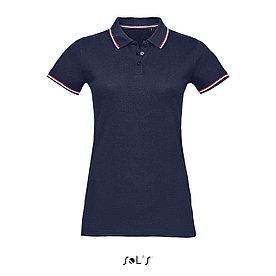 Женская рубашка поло Prestige, темно-синяя