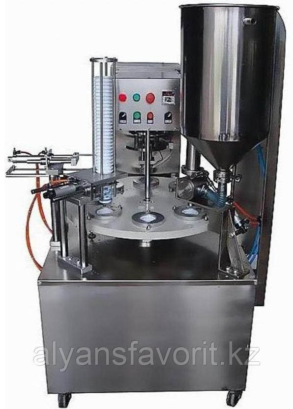 Роторный автомат фасовки жидких продуктов в стаканчики HTC-1