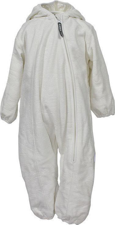 Флисовый комбинезон для малышей Huppa DANDY, белый, размер 62 - фото 1