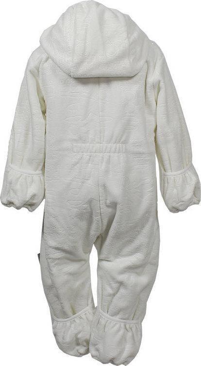 Флисовый комбинезон для малышей Huppa DANDY, белый, размер 62 - фото 2