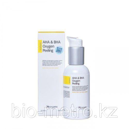Кислородная пенка-пилинг для лица с AHA и BHA кислотами АНА&ВНА Oxygen Peeling — Skindom
