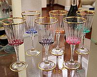 Набор фужеров для вина, воды. Ручная работа, Италия