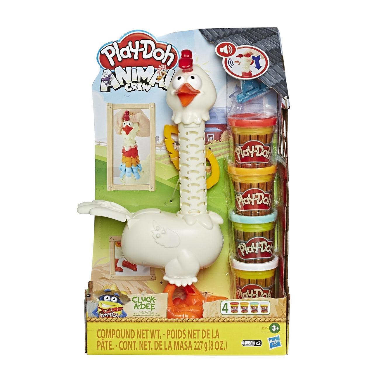 Hasbro Play Doh Игровой набор Курочка - чудо в перьях, Плей До