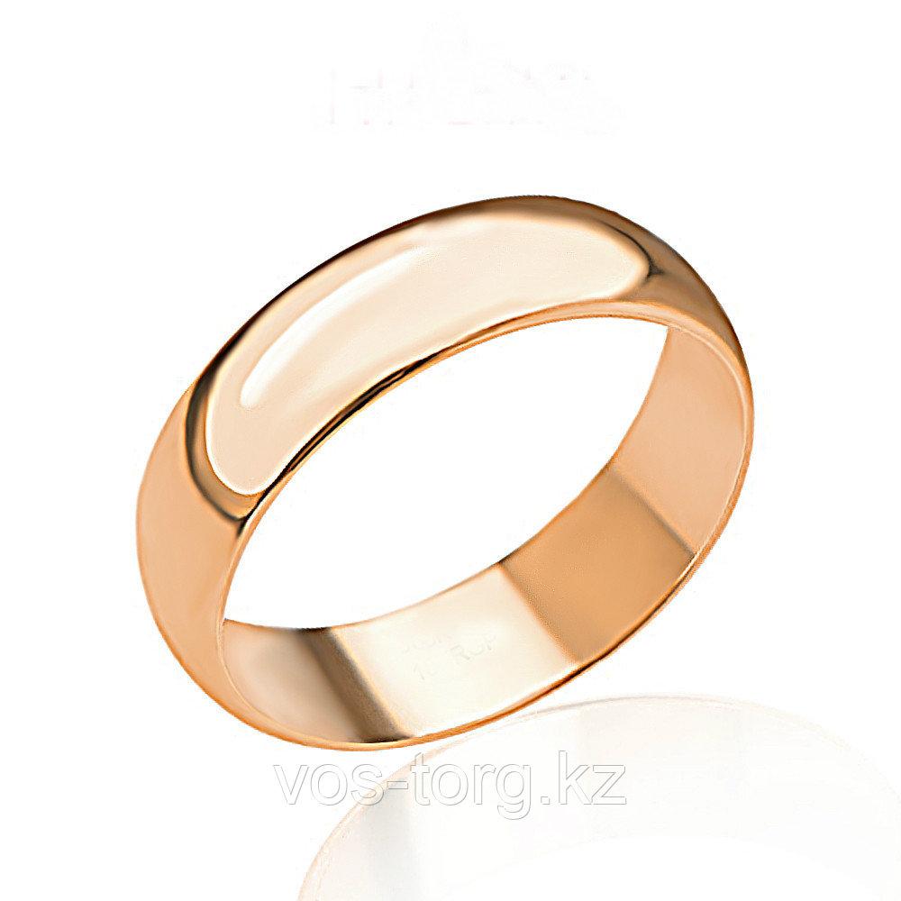 """Кольцо обручальное """"Классика 2"""" позолота - фото 4"""