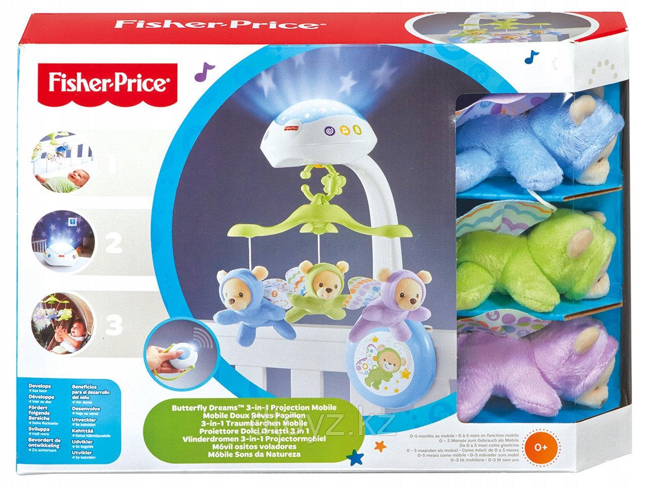 "Fisher Price Мобиль ""Мечты о бабочках"", новый дизайн CDN41"
