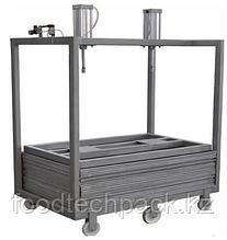 Пресс для вяленого мяса, 350 кг/цикл, размер рабочего стола 850х1250 mm