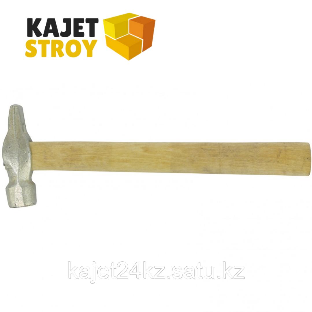 Молоток слесарный, 500 г, круглый боек, деревянная рукоятка // Россия