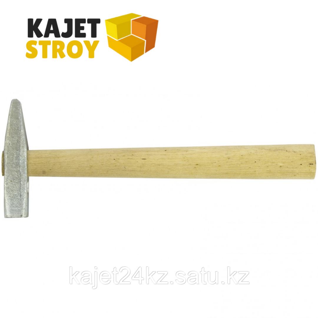Молоток слесарный, 200 г, квадратный боек, деревянная рукоятка// Россия