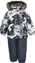 Детский комплект Huppa AVERY, чёрный с принтом/тёмно-серый, размер 92