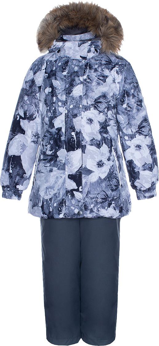 Комплект для девочек Huppa RENELY, светло-серый с принтом/серый, размер 98