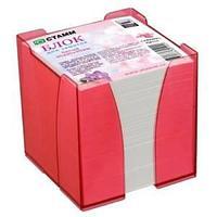 Блок для заметок цветной 9*9*9в пластбоксе ЭКСПЕРТ, розовый CARAMEL ПВ 110