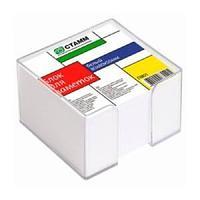 Блок для заметок белый 8*8*5 в прозрачном пластбоксе  ПВ01 СТАММ