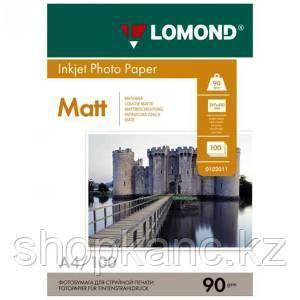 Фотобумага Lomond, матовая А4, 90 гр., 100 листов.