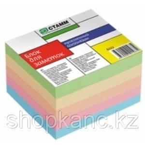 Блок для заметок проклеенный цветной  6*5*4