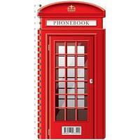 Телефонная книга А5, 80 л., на гребне, Лондонский стиль.