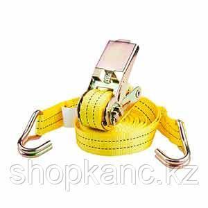 Стяжной ремень с храповым механизмом, ширина 50 мм, длина 10 мет, цвет желтый