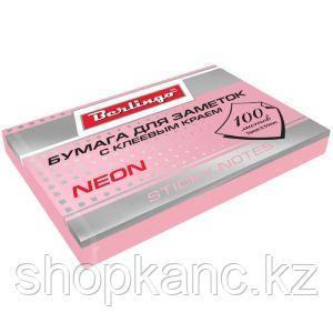 Бумага для заметок Berlingo с клеевым краем НЕОН 100 л 75х51 мм розовая