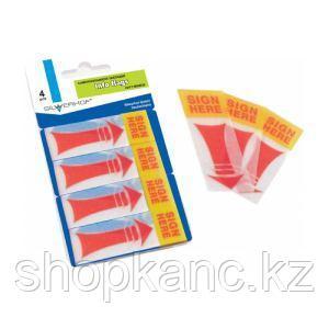Закладки самоклеящиеся, набор 4цв х 40л, SIGN HERE,полимерные,европодвес, арт. 801006 Сильферхоф