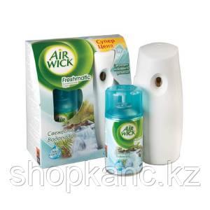 Комплект освежитель воздуха автоматический и сменный блок AIRWICK, Свежесть водопада.