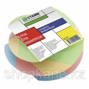 """Блок для заметок """"Спираль"""" 8*8*4,  цветной, БС02"""