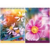 Блокнот А5 60л. на гребне Цветы. Blooming the garden, твердая подложка