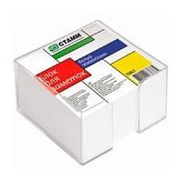 Блок для заметок белый 9*9*5 в прозрачном пластбоксе  ПВ61 СТАММ